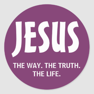 Jesus - The Way. The Truth. The Life. Sticker