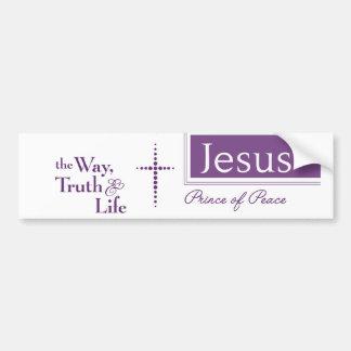 JESUS The Way Truth Life Christian Bumper Sticker