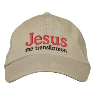 Jesus transformed me embroidered baseball caps