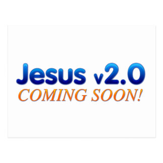 Jesus v2 0 postcard
