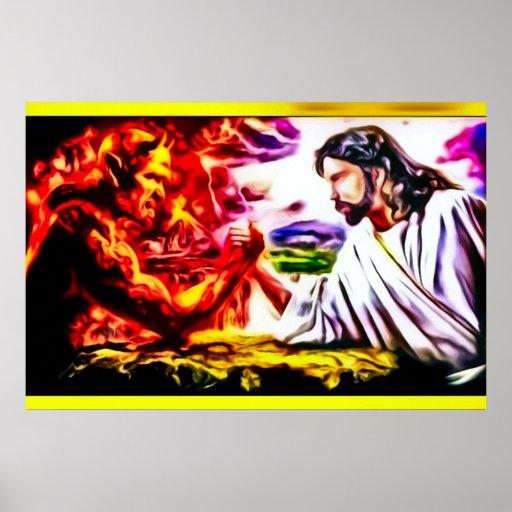 Jesus Versus Satan - Armegeddon Nouveau Print