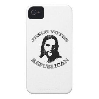 Jesus votes Republican Faded.png Case-Mate iPhone 4 Cases