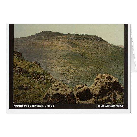 Jesus Walked Here: Mt. of Beatitudes Card
