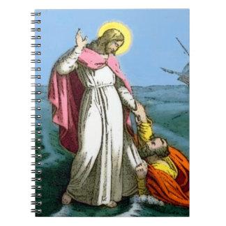 Jesus Walking on Water Notebook