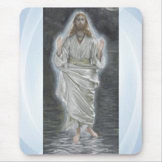 Jesus walks on the sea mousepad