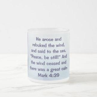 Jesus walks on the sea mug