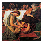 Jesus Washing Peter's Feet (2) Poster