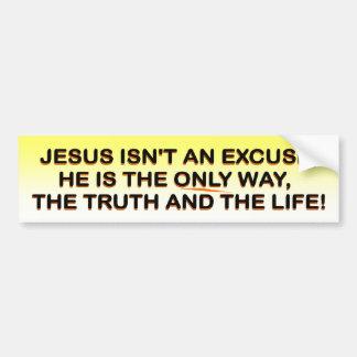 Jesus - way, truth, life bumpersticker bumper sticker