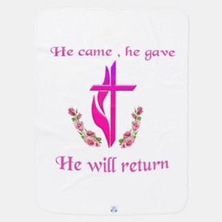 Jesus will return products receiving blanket