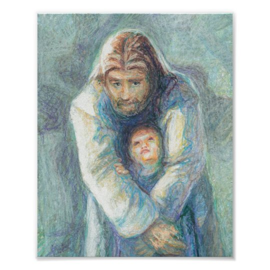 Jesus With A Child Poster