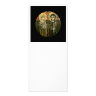 Jesus with Abbot Coptic Icon Rack Card Template