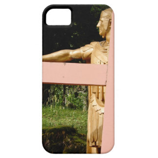 Jesus with cross iPhone 5 cases