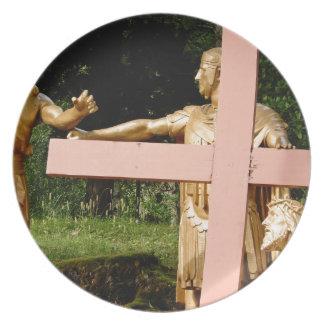 Jesus with cross plate
