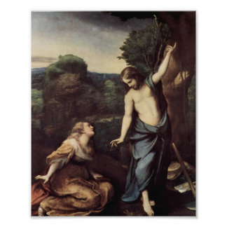 Jesus with Mary After Resurrection Photographic Print