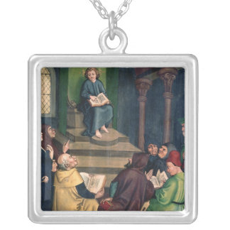 Jesus with the Doctors Silver Plated Necklace