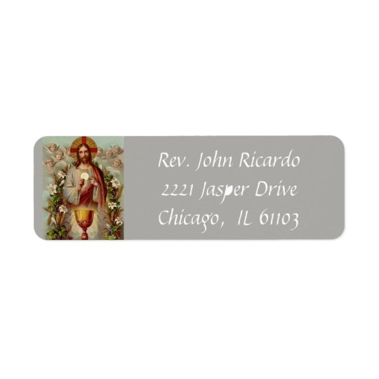 Jesus with the Eucharist & Chalice Return Address Label