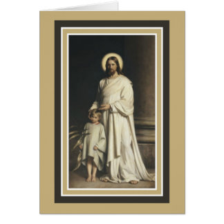 Jesus with Young Child Greeting Card
