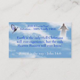 Christian salvation business cards zazzle uk jesus witnessing business card reheart Choice Image