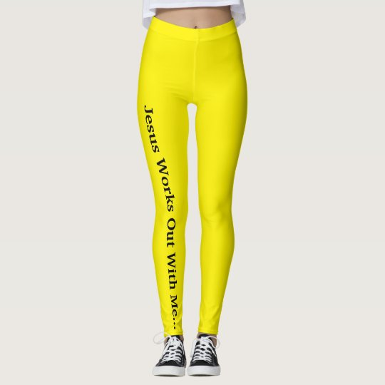Jesus Works Out With Me Leggings
