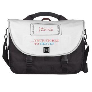 Jesus Your Ticket to Heaven Commuter Case Laptop Commuter Bag