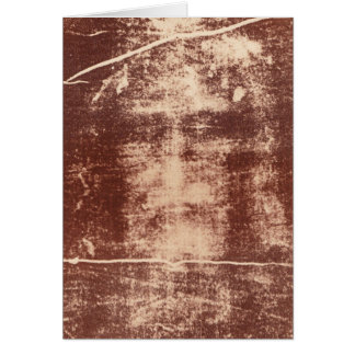 Jesus's Face Close up on the Shroud of Turin Greeting Card