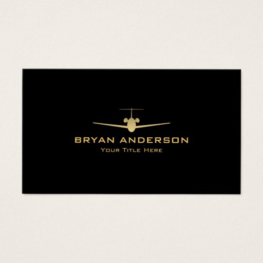 Jet Aeroplane Business Card