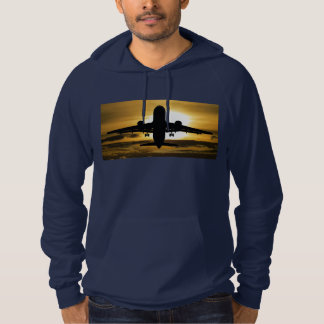 Jet Aircraft Against the Amber Sky Hoodie