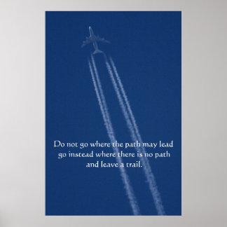 Jet Airliner Motivational Print
