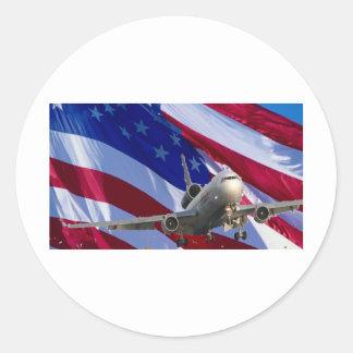 jet airliner sticker