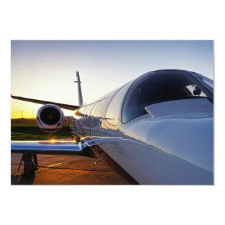 Jet Airplane at Sunrise 13 Cm X 18 Cm Invitation Card