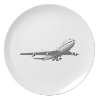 Jet Airplane Plate