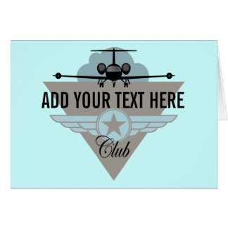 Jet Airplane Wing Club Greeting Card