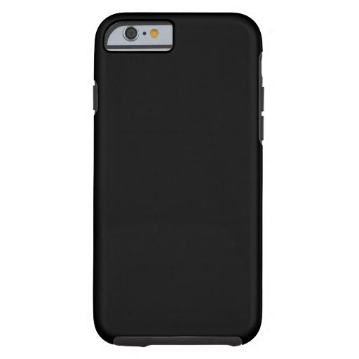 Jet Black Design - customise with text, photo, pic iPhone 6 Case