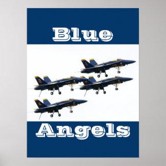 Jet Blue Angels Pilot Peace Love Art Party Destiny Poster