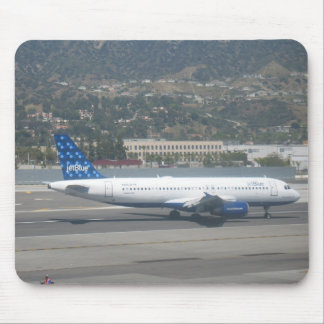 Jet Blue on RWY 8 at KBUR Mouse Mat