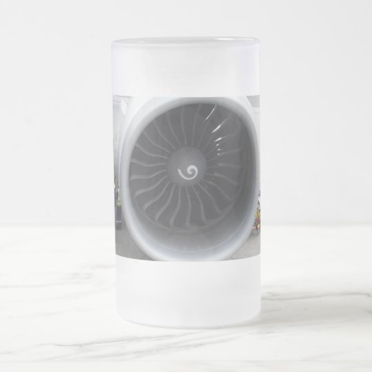 Jet Engine Frosted Glass Mug