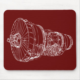 Jet engine mouse mat