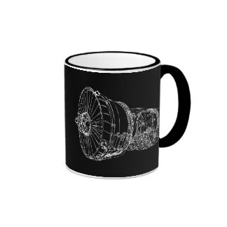 Jet engine ringer coffee mug