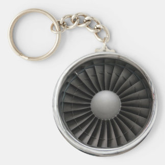 Jet Engine Turbine Fan Key Ring