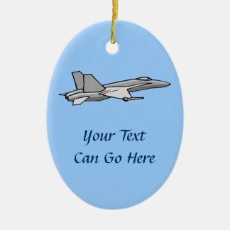 Jet Fighter F18 Hornet Airplane Plane Pilot Design Ceramic Oval Decoration
