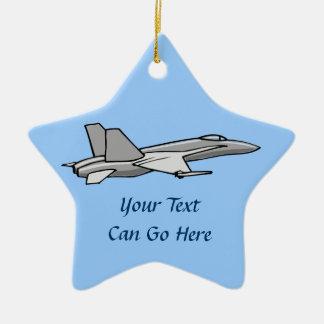 Jet Fighter F18 Hornet Airplane Plane Pilot Design Ceramic Star Decoration