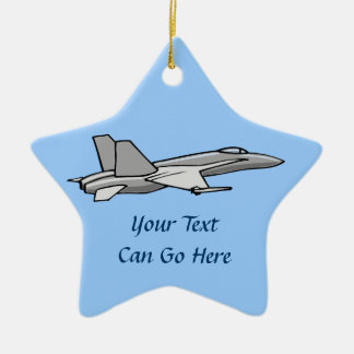 Jet Fighter F18 Hornet Airplane Plane Pilot Design Christmas Ornament