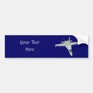 Jet Fighter F18 Hornet Design Bumper Sticker