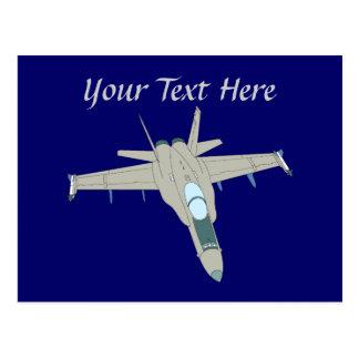 Jet Fighter F18 Hornet Design Postcard