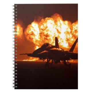 Jet Fighter Flames Notebook