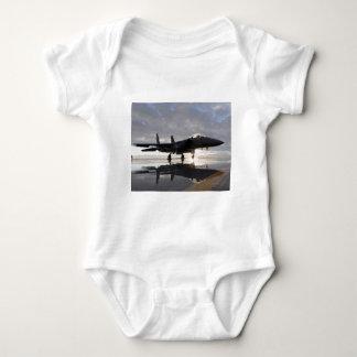 Jet Fighter Over Seas Baby Bodysuit