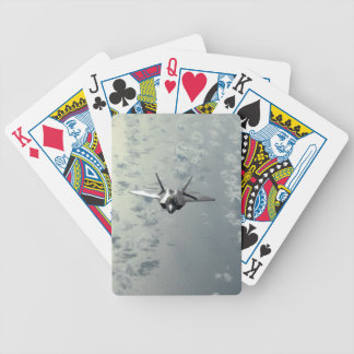 Jet Fighter Over Seas Bicycle Playing Cards