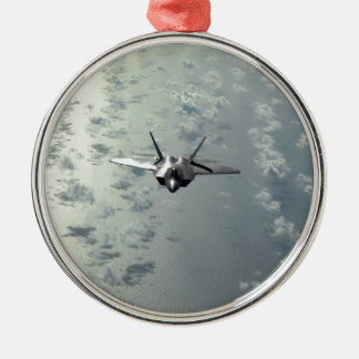 Jet Fighter Over Seas Christmas Ornament