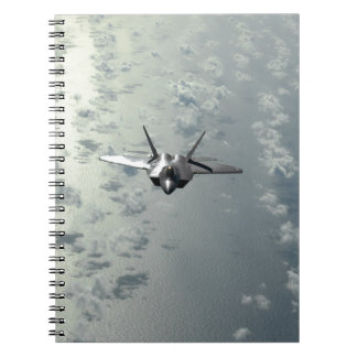 Jet Fighter Over Seas Spiral Note Books