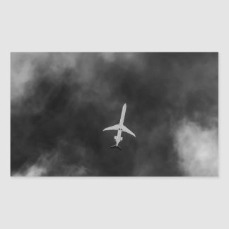 Jet High In The Sky Rectangular Sticker